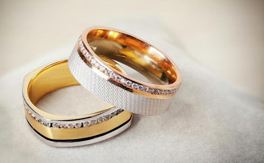 Ring Photograph - Gold Wedding Ring  by Dejan Jekic