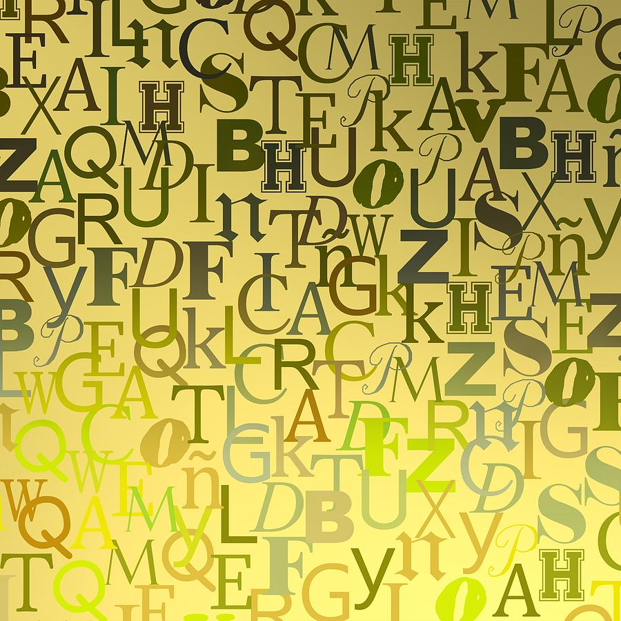 Golde Letters Over Degrades Backlight Digital Art