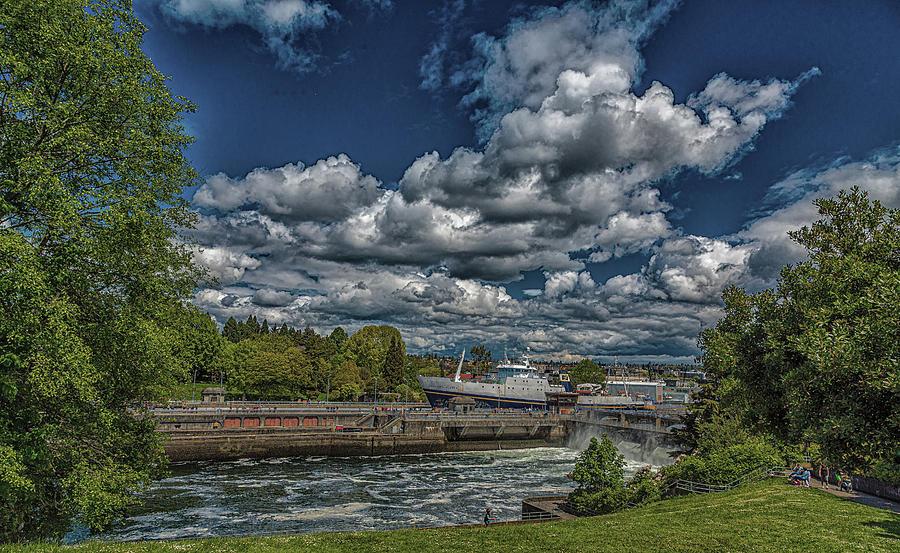 Golden Alaska Through Ballard Locks by Darryl Brooks