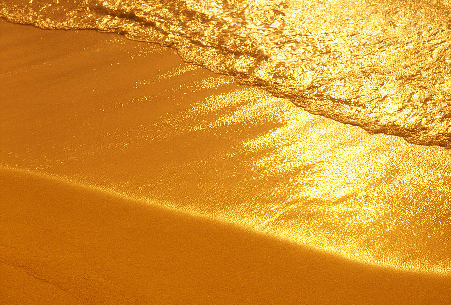 Golden Beach Photograph by Ooyoo