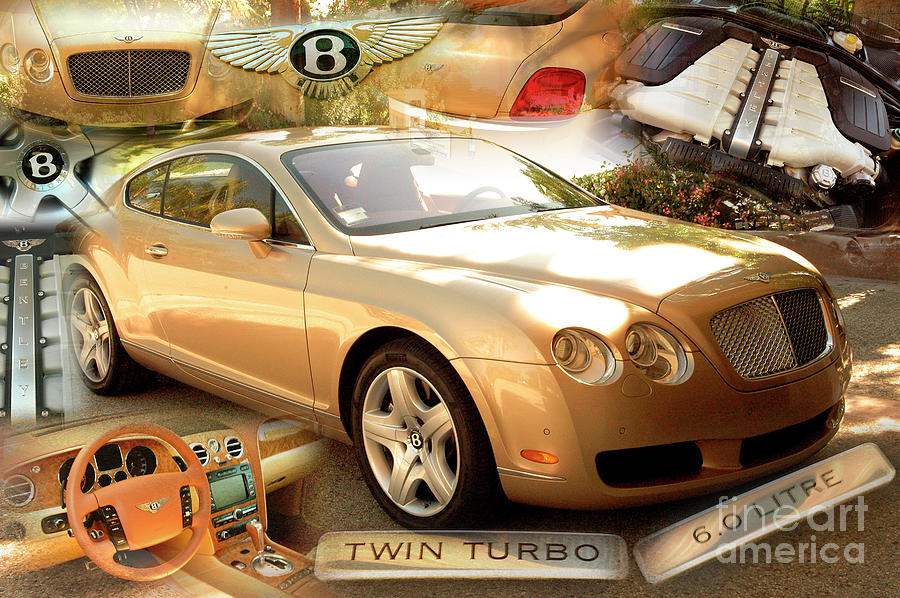 Golden Bentley Coupe by Charles Abrams