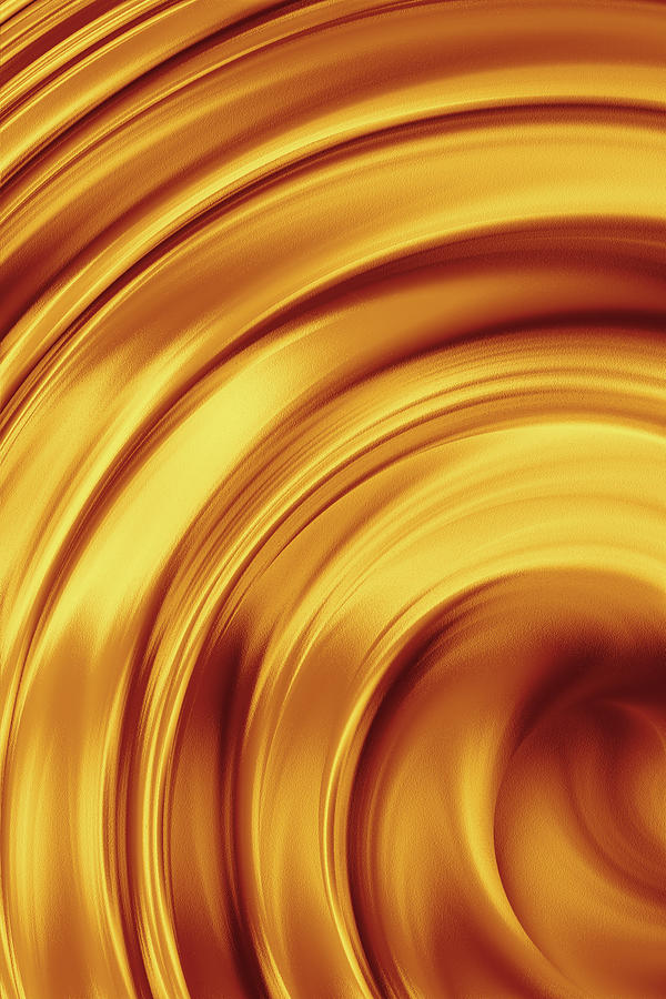 Golden Brass Swirl Photograph by Emrah Turudu