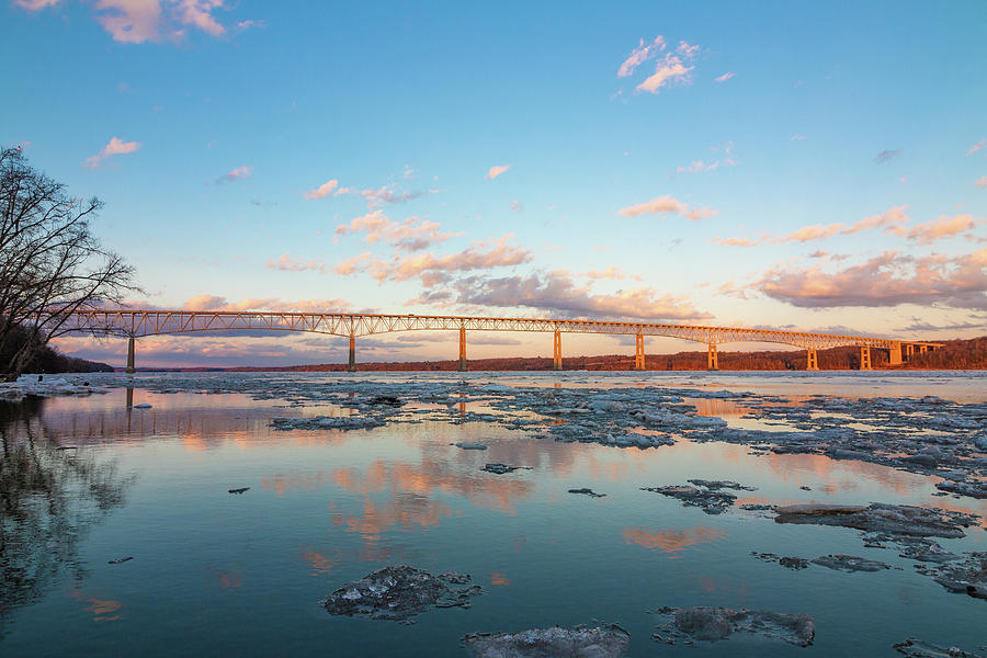 Hudson River Photograph - Golden Bridge by Jeff Severson