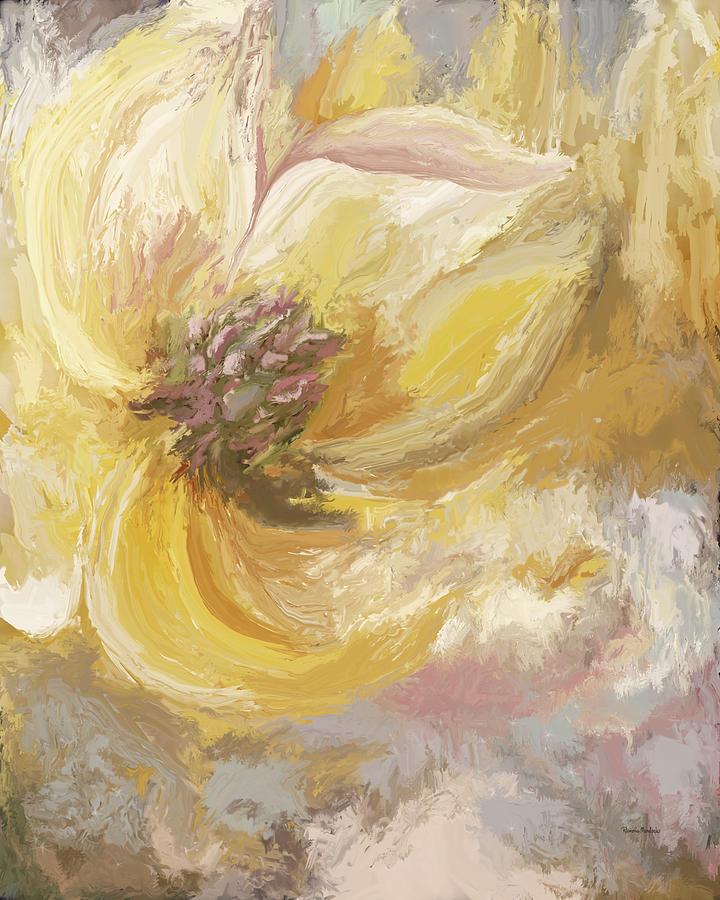 Golden Dahlia I by Ramona Murdock