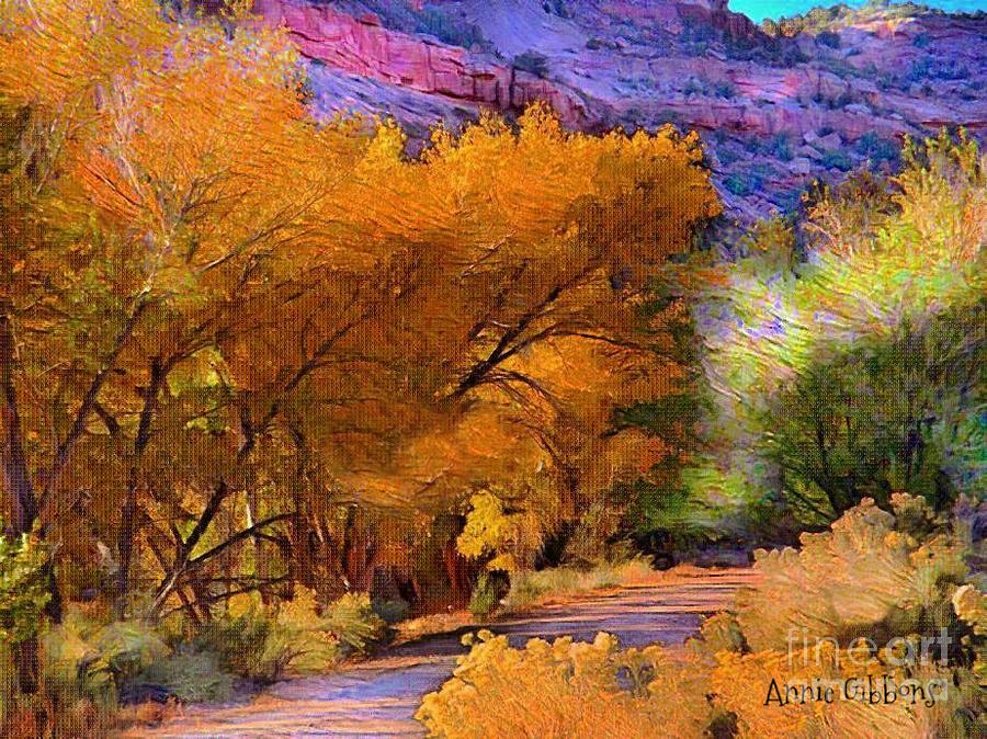 Golden Days Digital Art by Annie Gibbons