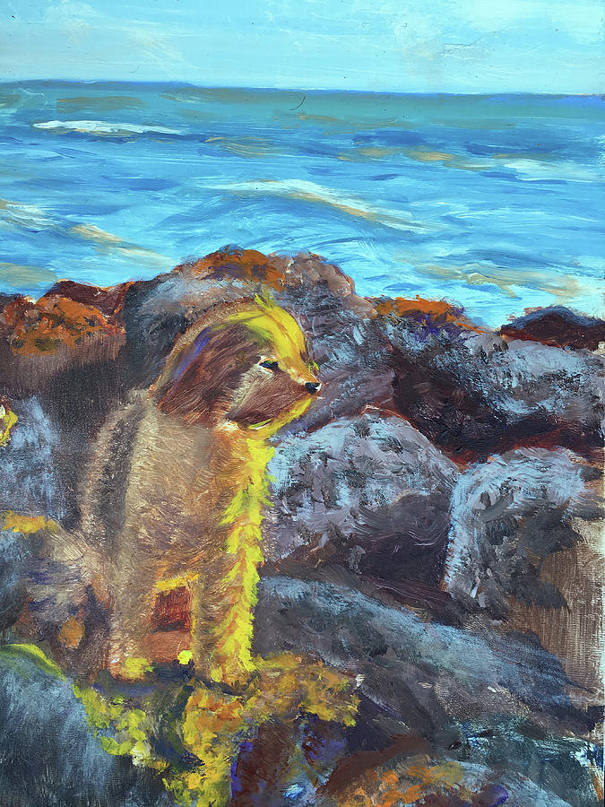 Dog Painting - Golden Dog by Lynne Atwood