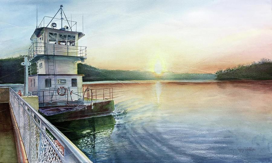 Golden Eagle Ferry by Carolyn Coffey Wallace