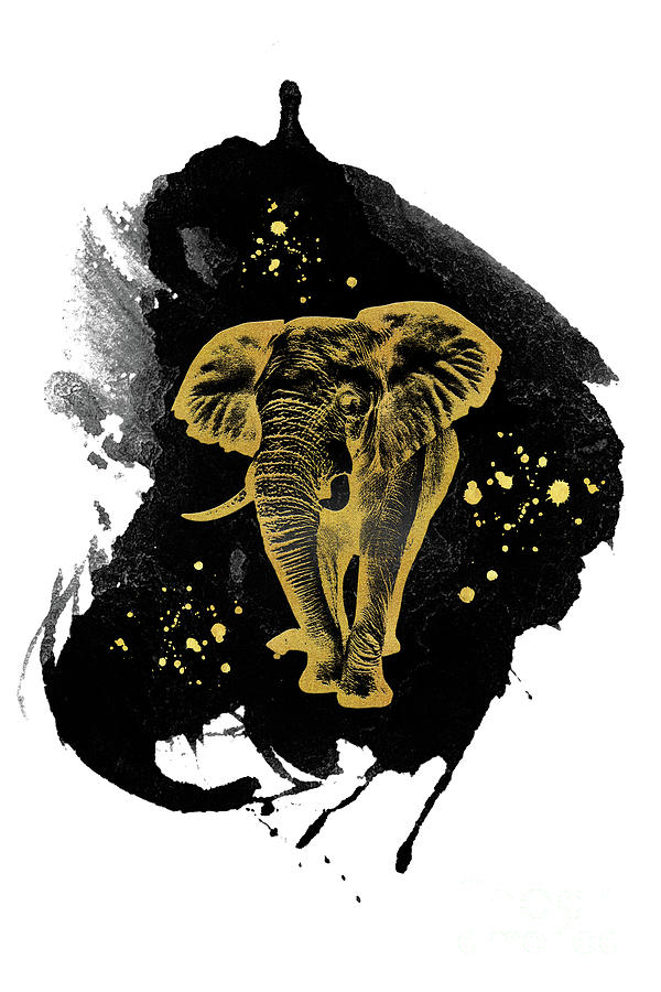 Golden Elephant by Angela Doelling AD DESIGN Photo and PhotoArt