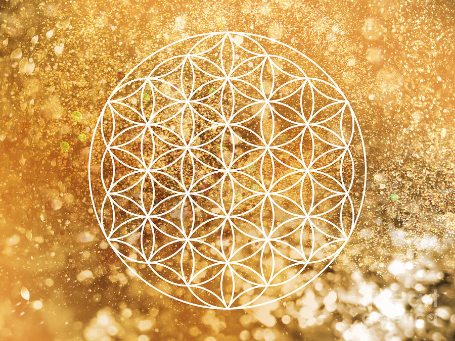 Golden Flower of life SacredGeometry by Nathalie DAOUT