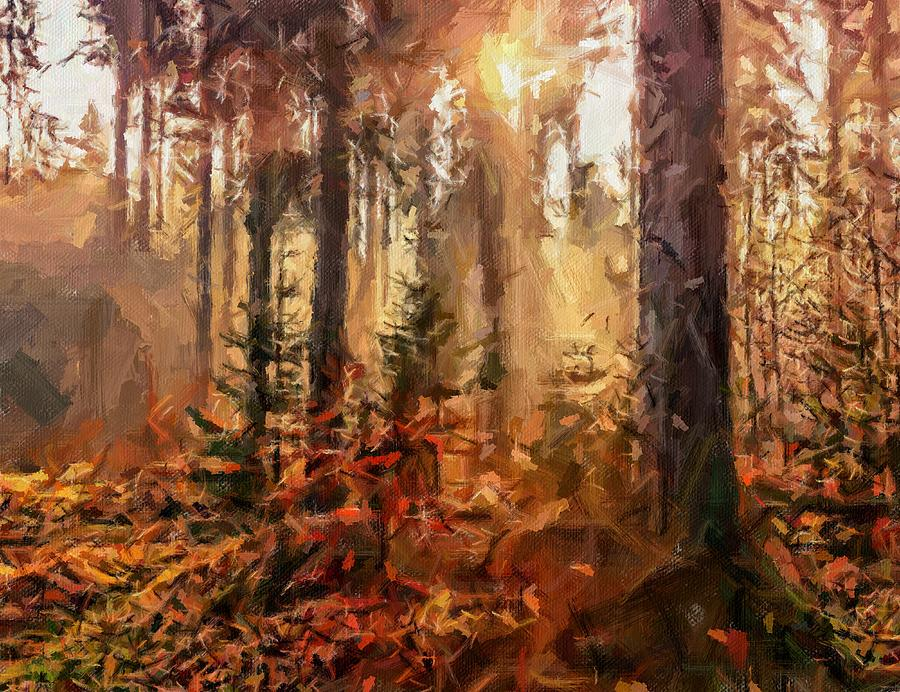 Golden Forest by Painterly Images