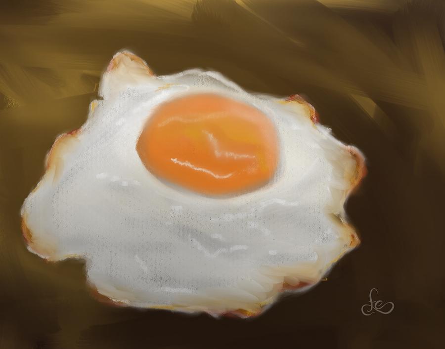 Eggs Pastel - Golden Fried Egg by Fe Jones