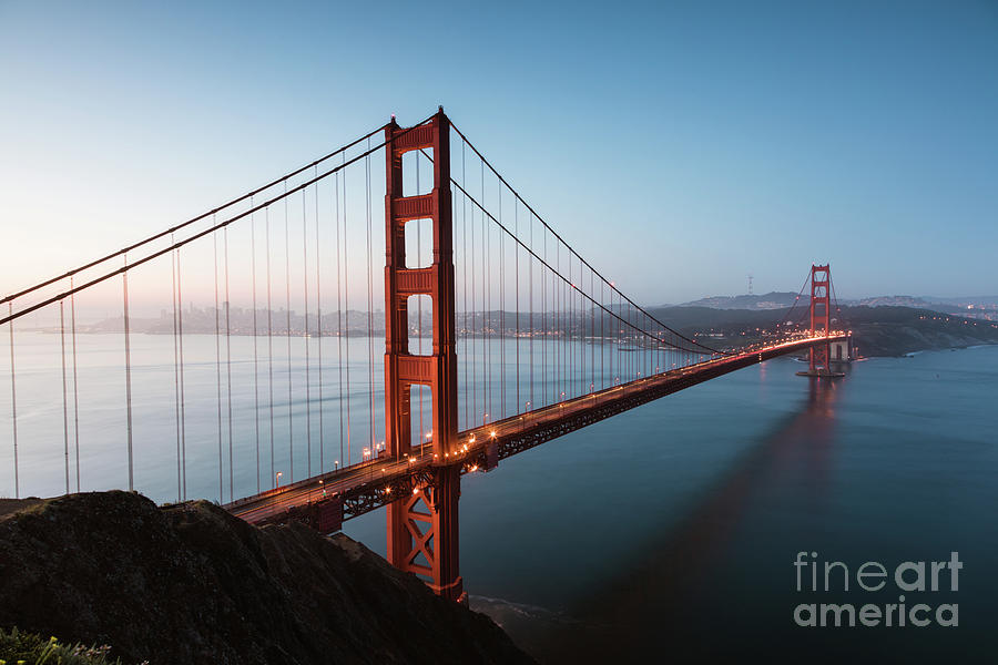 Golden gate at sunrise, San Francisco by Matteo Colombo