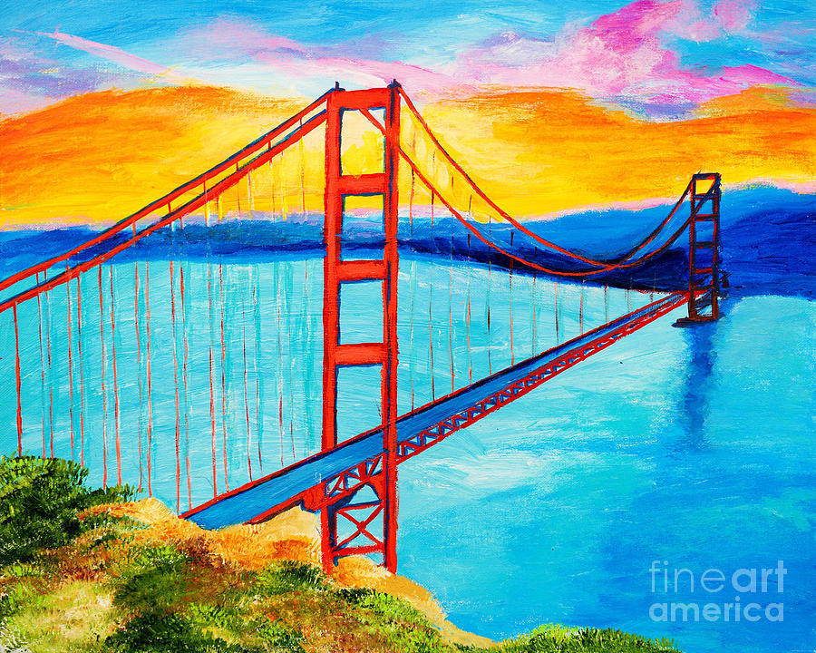 Golden Gate at Sunset by Art by Danielle