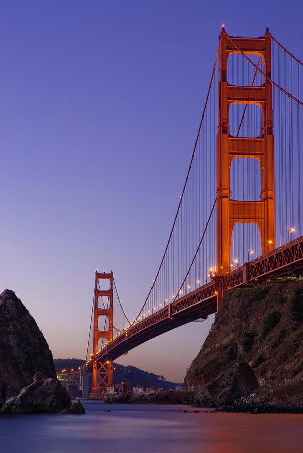 Golden Gate Bridge From Fort Baker, Dawn Photograph by Deanbirinyi