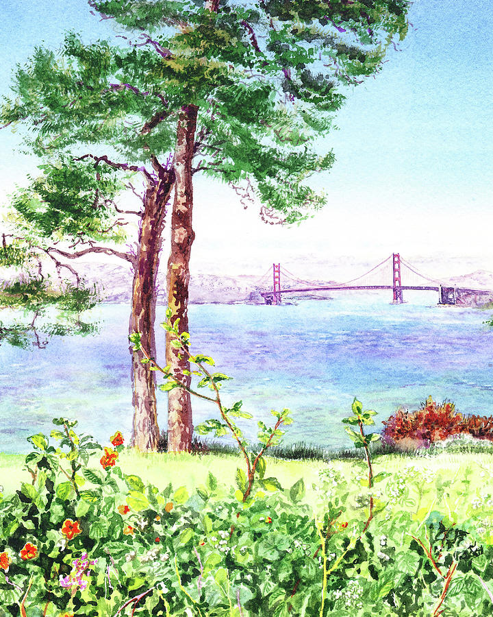 Golden Gate Bridge From Lincoln Park Painting