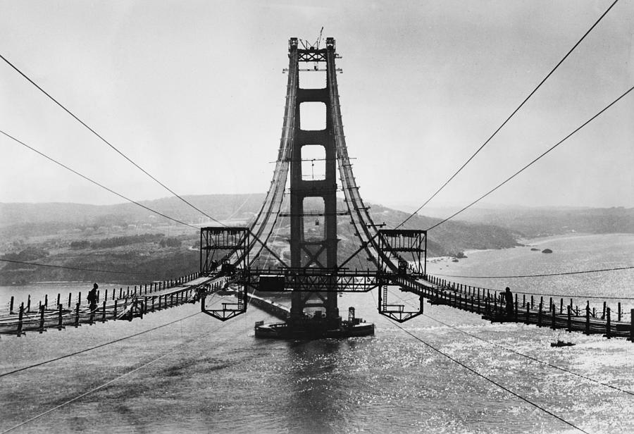 Golden Gate Bridge Photograph by Hulton Archive