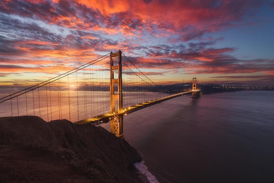 Golden Gate Bridge, San Francisco, California, Usa Photograph