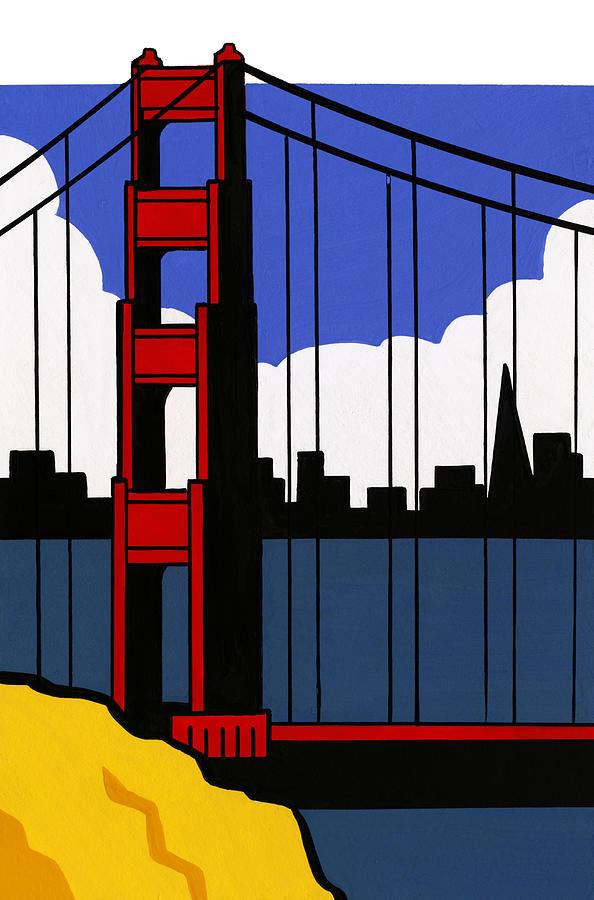 Golden Gate Bridge, San Francisco Digital Art by Matt Olson