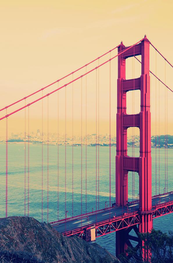 Golden Gate Bridge Spanning San Photograph by Gregobagel