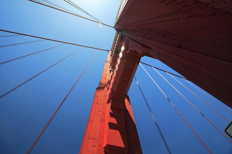 Golden Gate Bridge Tower Photograph by Mortonphotographic