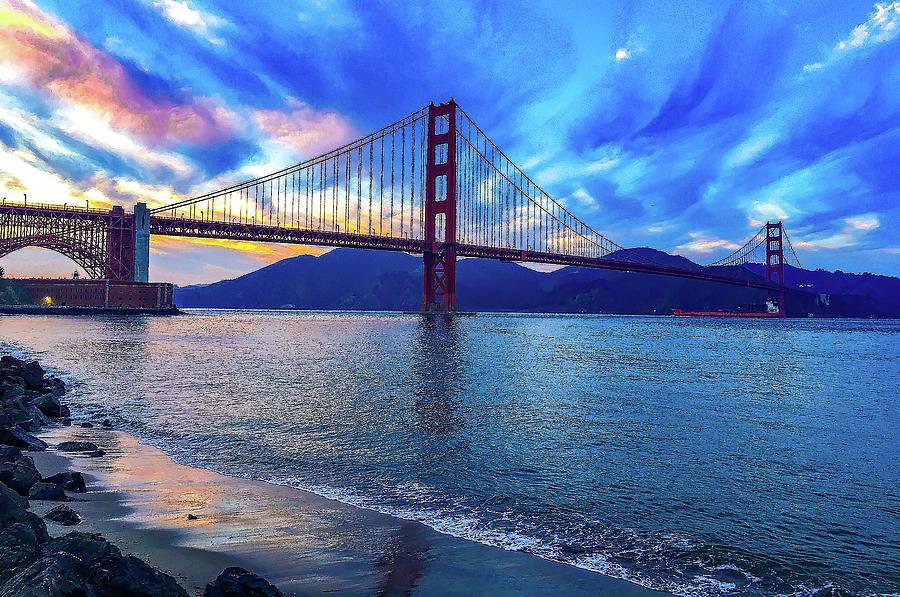 Golden Gate Impression #2 by Dimitris Sivyllis