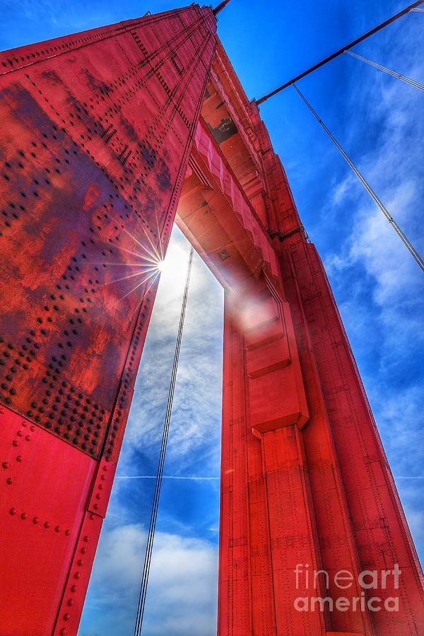 Golden Gate Look Up Photograph