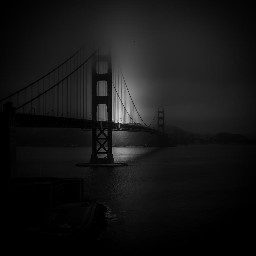 Golden Gate - Night Study Photograph by Stefan Buder