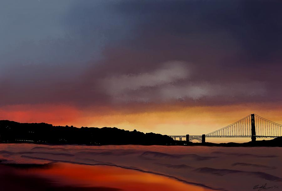 Golden Gate Sunset by Becky Herrera