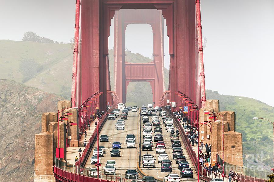 Golden Gate Traffic Photograph