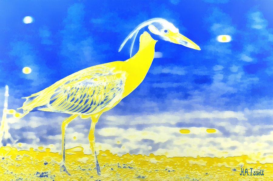 Golden Heron by Humphrey Isselt