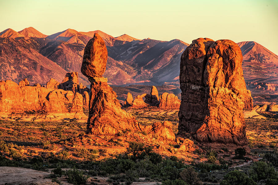 Golden Hour at Balanced Rock by Paul LeSage
