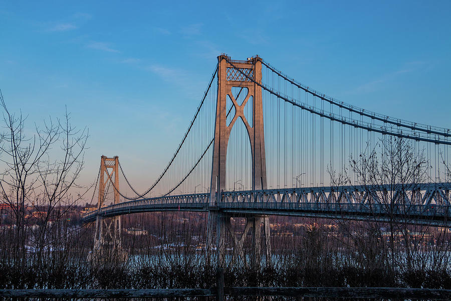 Hudson River Photograph - Golden Hour At Mid-hudson Bridge by Jeff Severson