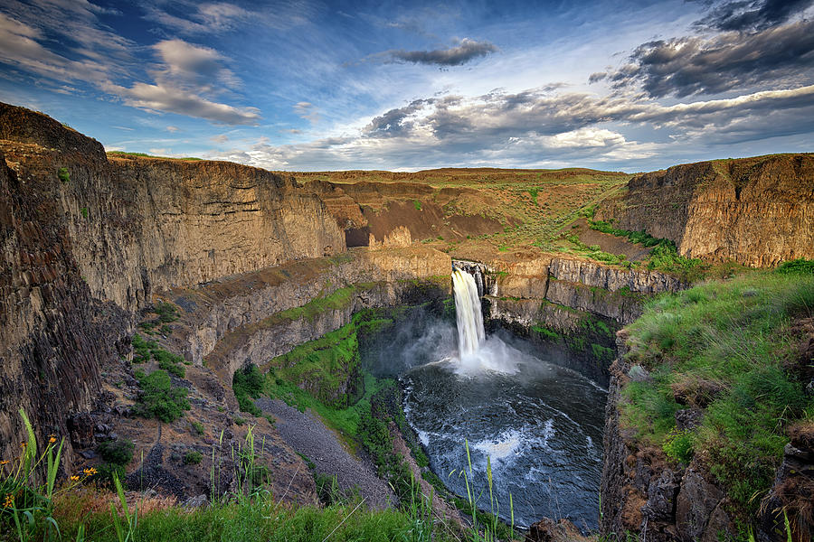 Golden Hour at Palouse Falls by Rick Berk