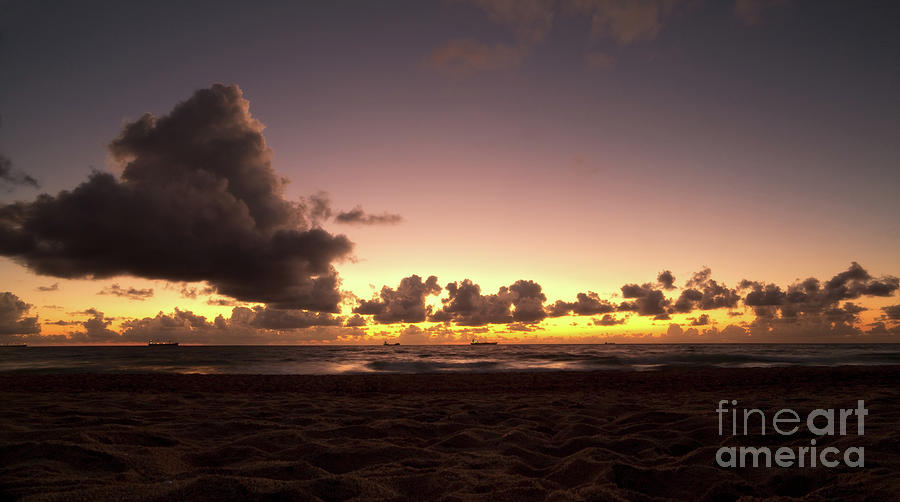 Dawn Photograph - Golden Hour Off Florida Coast by Matt Tilghman