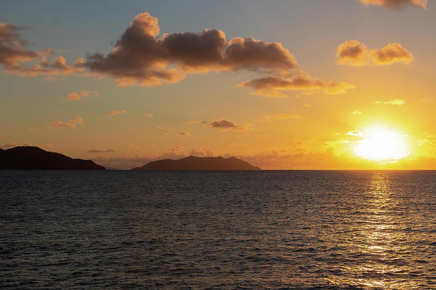 Beach Photograph - Golden Hour Sunset by Tina Walsh