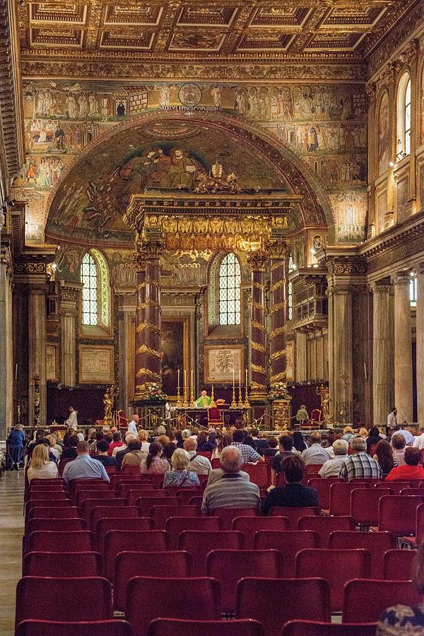 Archbasilica Of St. John Lateran Photograph - Golden by Joseph Yarbrough