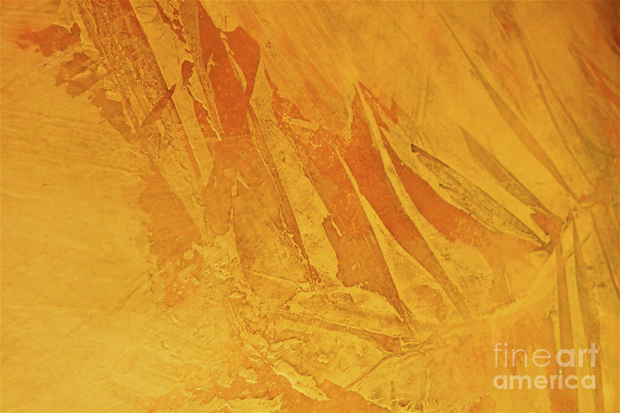 Golden Leaf Abstract Pattern 300 Painting