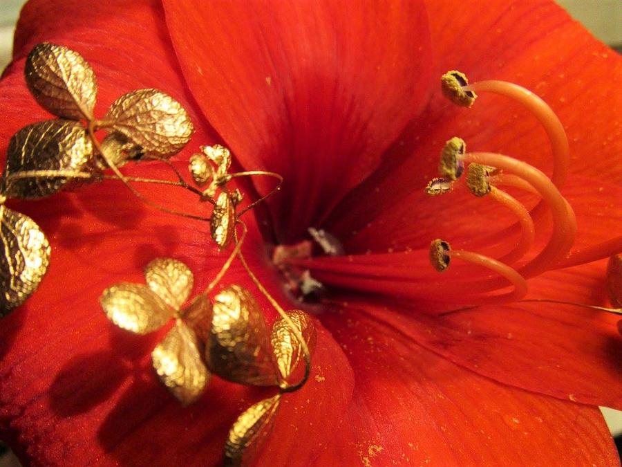 Golden leafs by Rosita Larsson