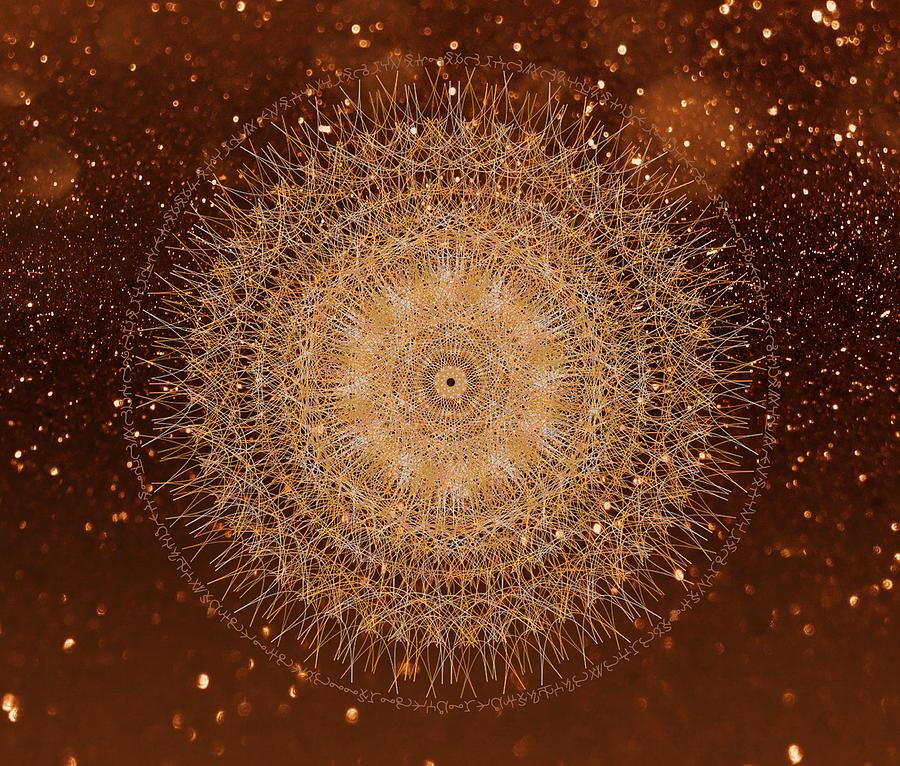 Golden Light Mandala by Nathalie DAOUT
