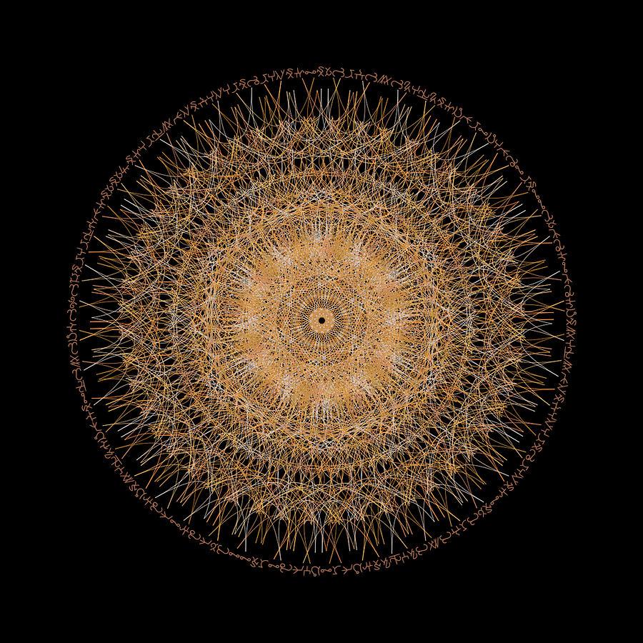 Golden Mandala by Nathalie DAOUT