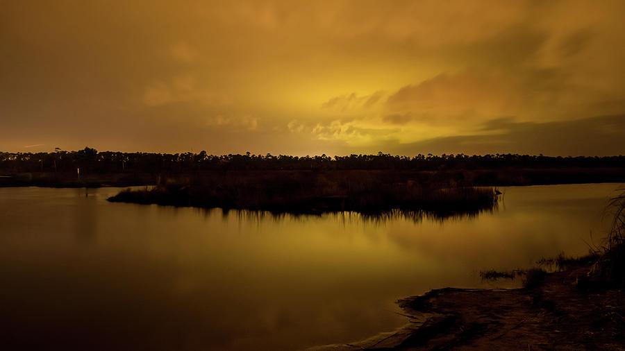 Golden Night on the Swamp by James-Allen