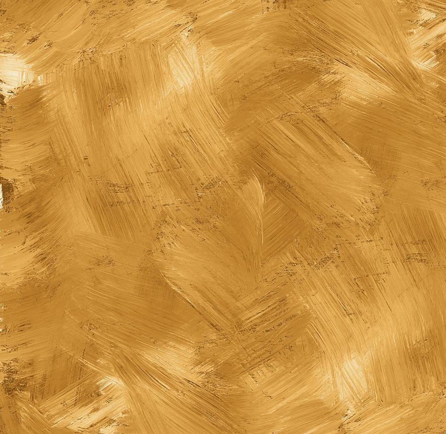 Golden Painted Texture Photograph by Hudiemm