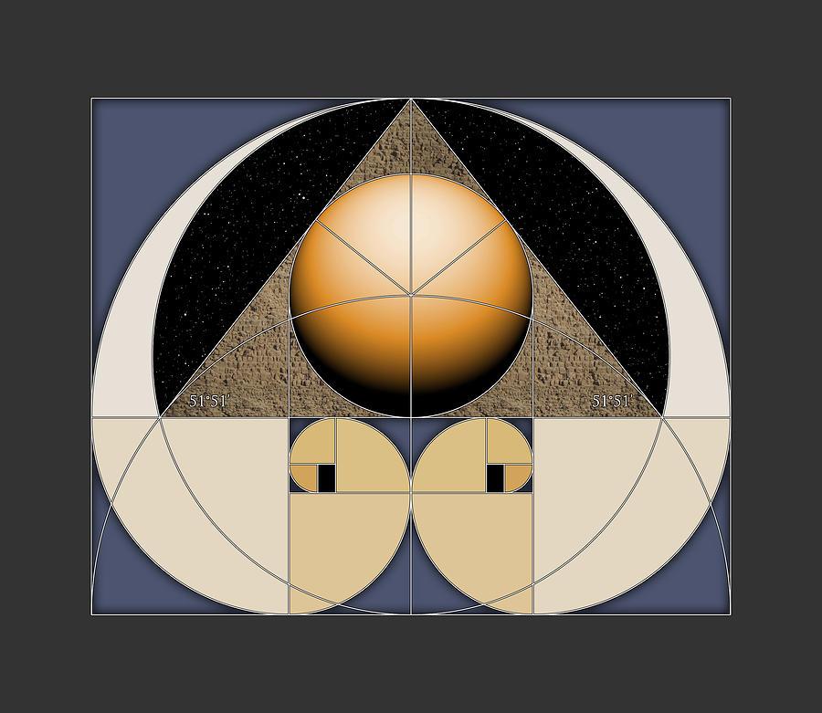 Golden Pyramid Digital Art by Scott Onstott