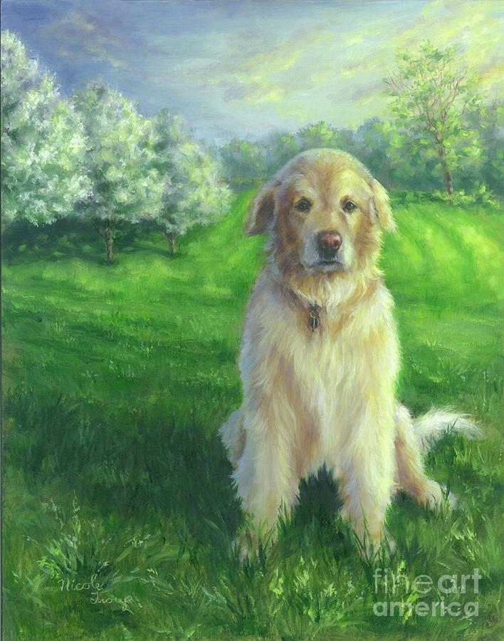 Golden Retriever Painting - Golden Retriever by Nicole Troup