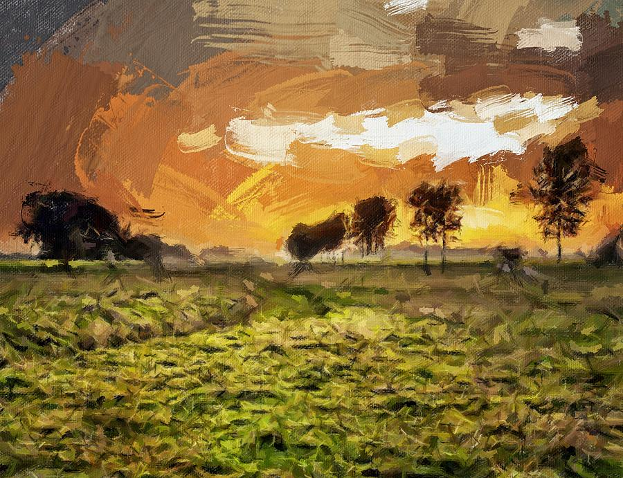Golden Sky by Painterly Images