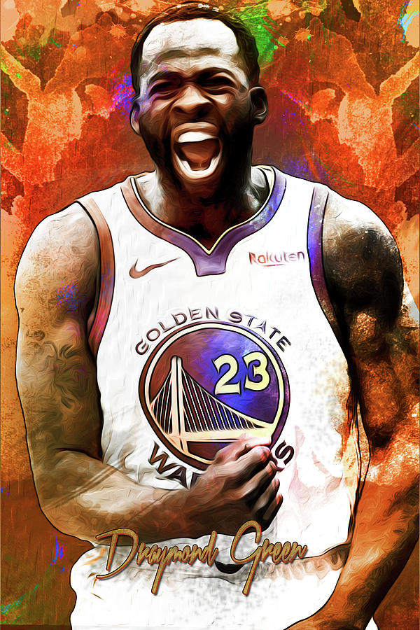 96b1bb87b0e Golden State Warriors Draymond Green Paint Poster Painting by Jose ...