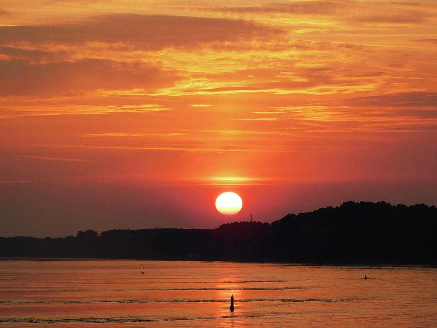 Golden Sunrise On The Rhine River In Germany3 Photograph