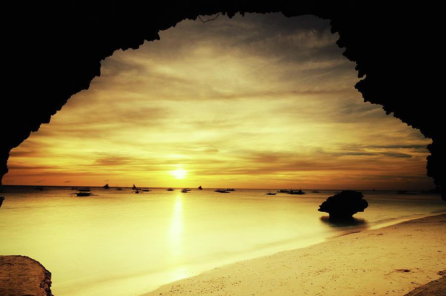 Golden Sunset Photograph by Joyoyo Chen
