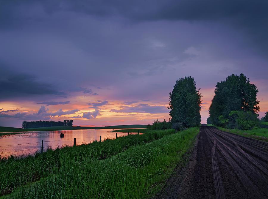 Golden Sunset Near Westlock by Dan Jurak