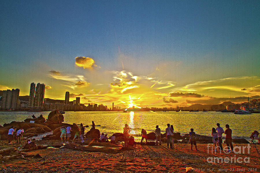 Golden Sunset Mixed Media